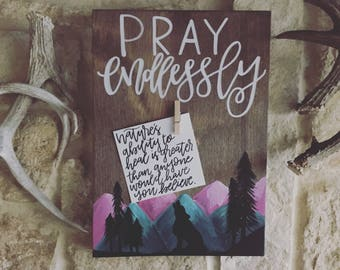 Pray Endlessly • Bible Verse Clipboard