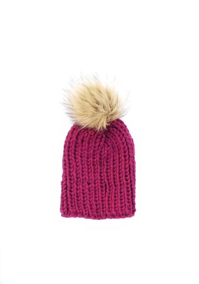 8abf6bc61f4 Fur Pom Pom Hat Fur Pom Pom Beanie Women Pom Pom Beanie