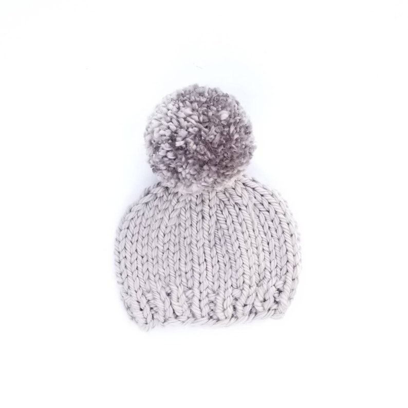 eeb9834bb Baby Pom Pom Beanie, Baby Beanies, Pom Pom Beanies, Toddler Hats for Girls,  Knit Baby Beanie, Pom Pom Hats, Knit Baby Hats, Toddler Hat