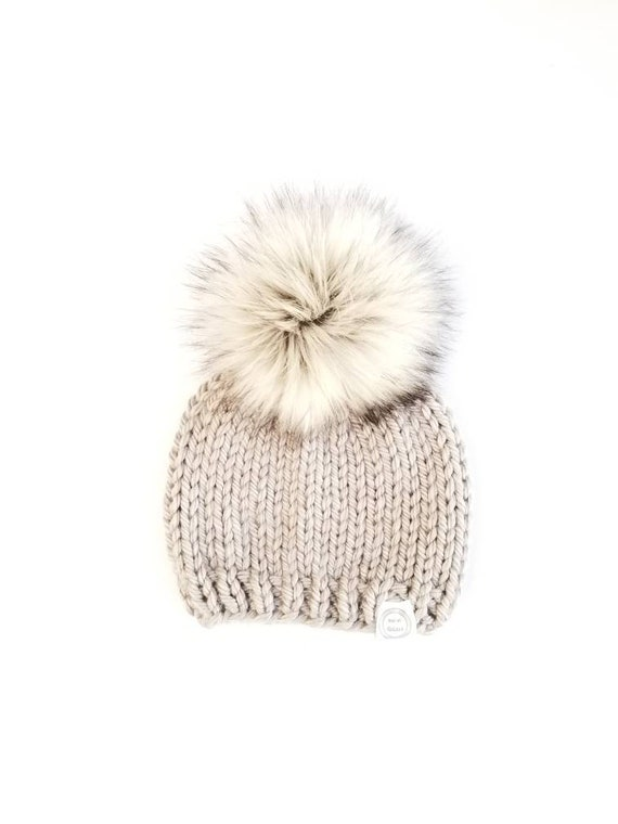 59be6fdeb Baby Fur Pom Pom Hat, Fur Pom Pom Beanies, Baby Shower Gift, Toddler Hat  for girls, Baby Fur Pom Pom Beanies, Baby Beanie, Baby Pom Pom Hats