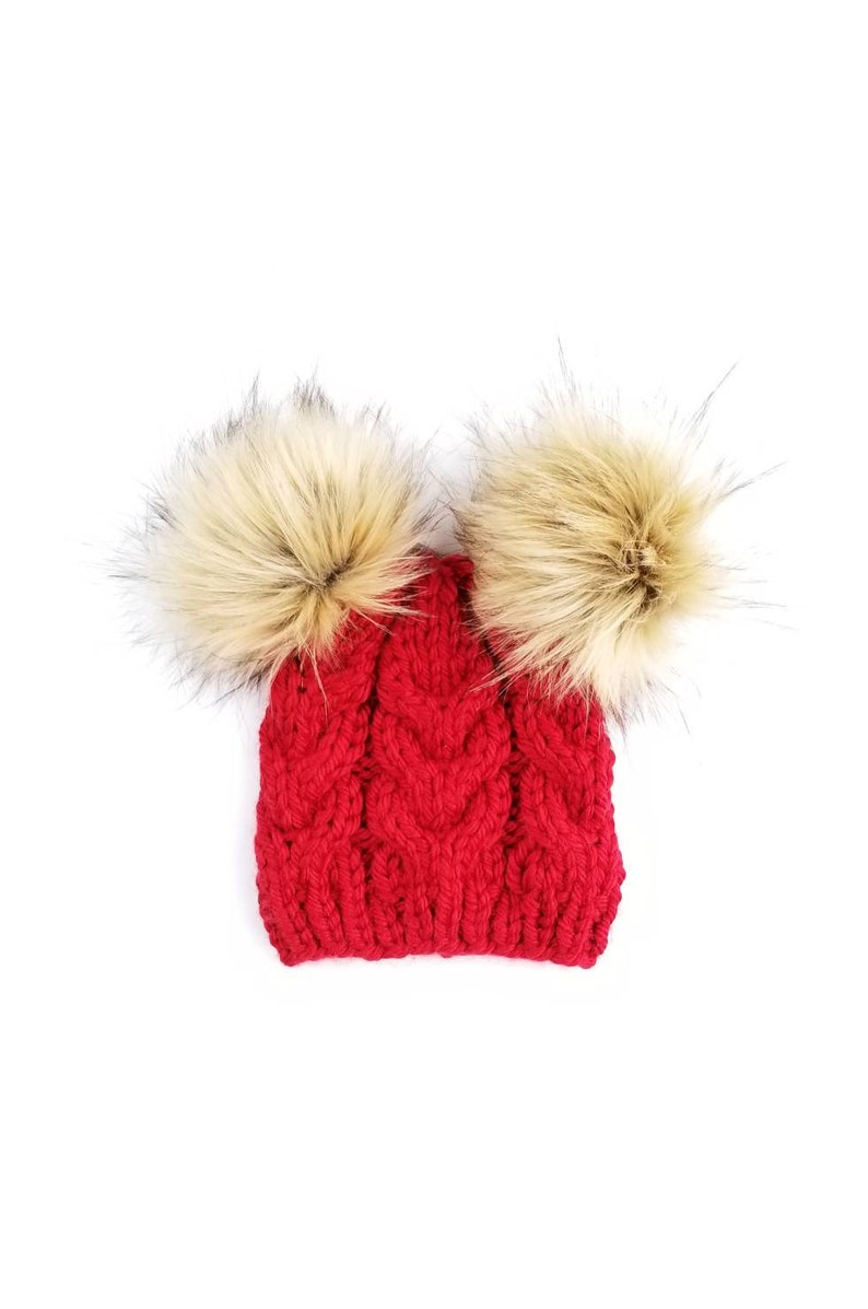 2a603124569 Double Pom Pom Hats Toddler Hats for Girls Unique Gifts for