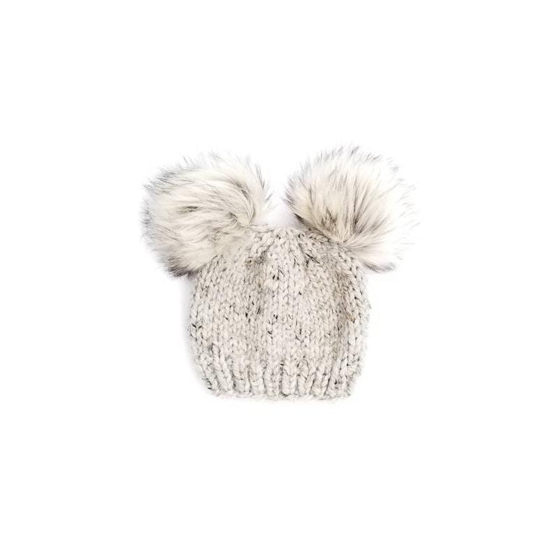Baby Fur Pom Pom Hat Fur Pom Pom Beanies Toddler Hat for  9ba5b1ea02f