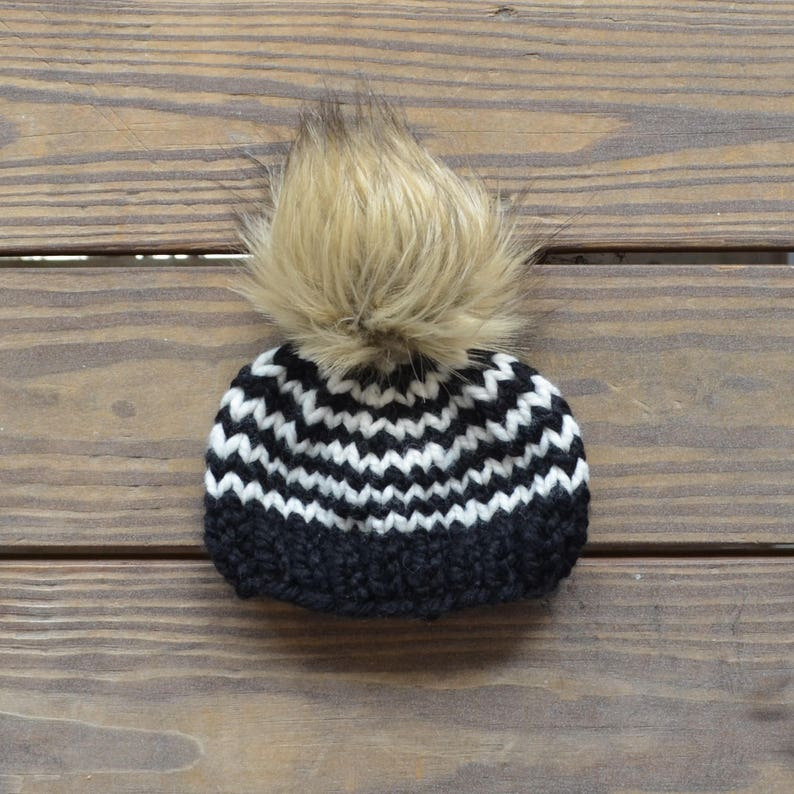 35cfe2444a96a Fur Pom Pom Beanies Baby Fur Pom Pom Hat Toddler Hat for
