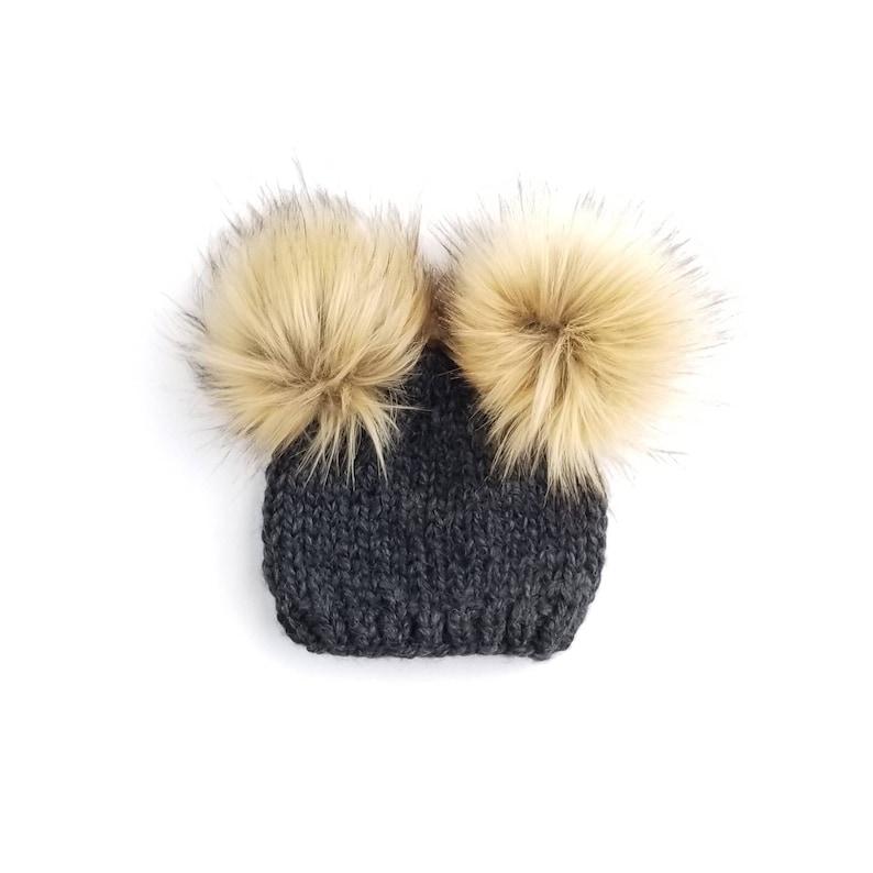 30580414d Baby Fur Pom Pom Hat, Fur Pom Pom Beanies, Toddler Hat for girls, Double  pom pom hat, Baby Pom Pom Beanies, Baby Pom Pom Hat Pom Pom Hat