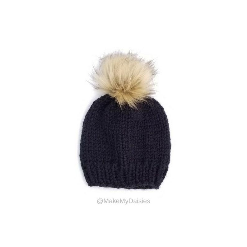 5b98662aebd Fur Pom Pom Hat Pom Pom Beanie Winter Beanie Winter Toque
