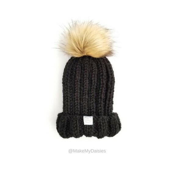 abb47049846 Fur Pom Pom Beanie Fur Pom Pom Hat Womens Pom Pom Beanie