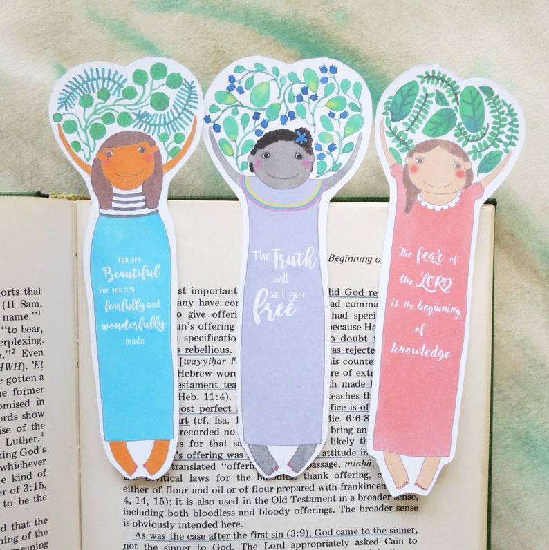 Bookmarks Set Reader Birthday Gift Librarian Unique