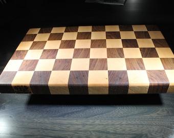 End Grain Cutting Board (Maple and Walnut)