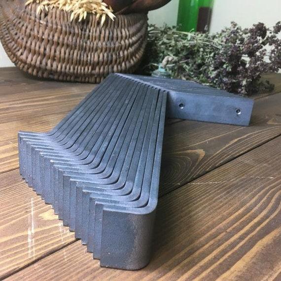 Vintage Industrial Raw Steel Shelf Brackets - Oak - Scaffold - Pine Shelves
