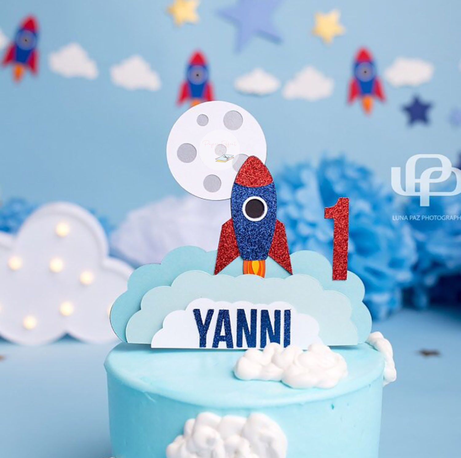 Excellent Space Themecustom Birthday Cake Topper Rocket Ship Cake Etsy Funny Birthday Cards Online Elaedamsfinfo