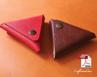 Leather Bag Pattern (PDF files): Leather Coin Purse