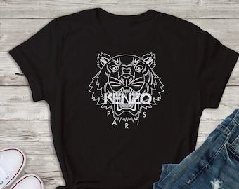 6294cfc9d35 kenzo Inspired Shirt, kenzo Tshirt, Fashion Tee, Gold or Silver Glitter,  Bling kenzo Shirt, kenzo Tees, T-shirt, White Black Top