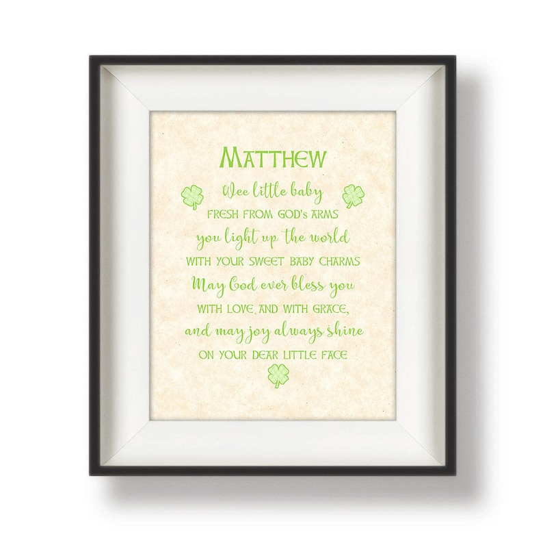 Irish Baby Blessing Nursery Wall Quotes Personalized Etsy