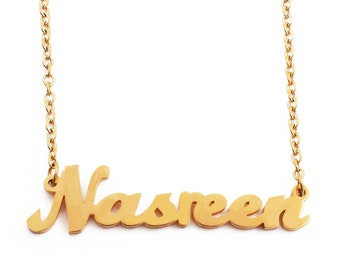 Silver Tone Kigu Hanna Custom Name Necklace Personalized
