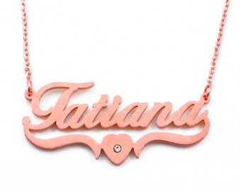 Tatiana Three Tone Russian Ring Style Pendant Necklace