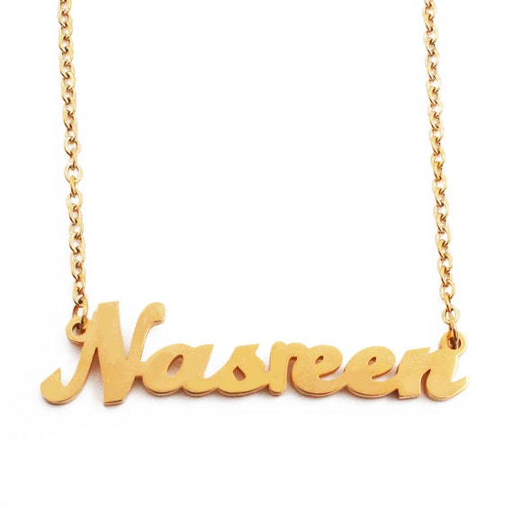Kigu Lucia Custom Name Necklace Personalized 18ct Rose Gold Plated