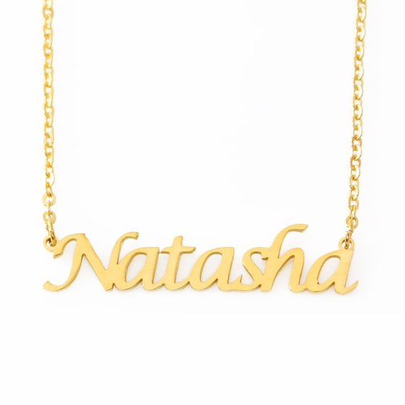 NATALIA 18ct White Gold Plating Necklace With Name Gifts For Her Christmas