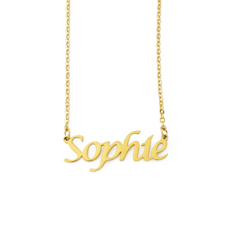 Personalized Jewellery Rose Gold Name Necklace Sophia Valentines Birthday