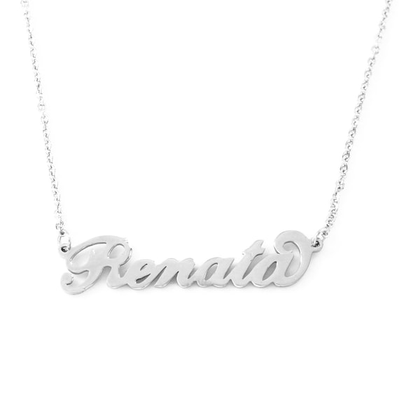 VANESSA Silver Tone Name NecklaceChristmas Gifts For Her Anniversary Wedding