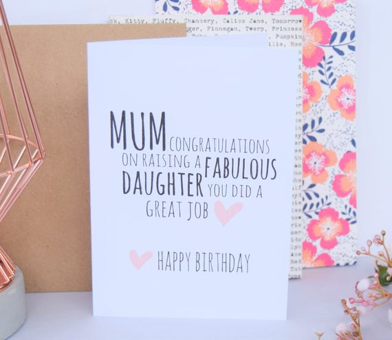 Birthday Card From Mom To Daughter Image Collections Free Birthday