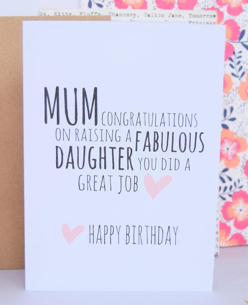 Mum Birthday Card Fabulous Daughter Mom