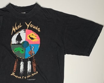 New Neil Young Trans Canadian Musician T-shirt Black Men Custom USA Size S 2XL