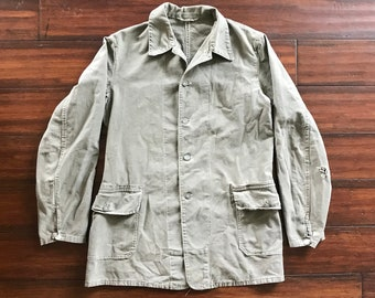 b9c7712be7d 1940 s Swiss Military chore jacket two pocket mens 40