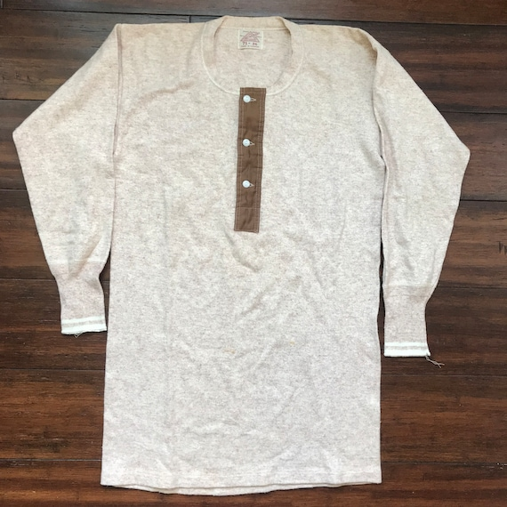 1920's Vintage Penman 3 button Henley two tone und