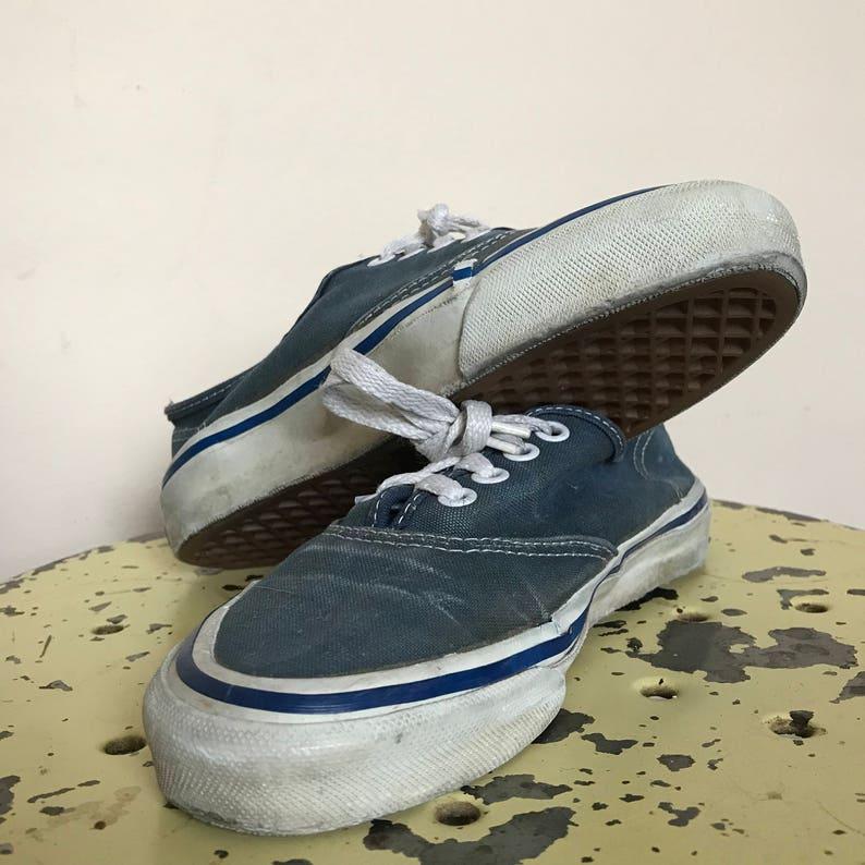 0ed932fd86161 90's Vintage Vans Blue Mens 5 USA