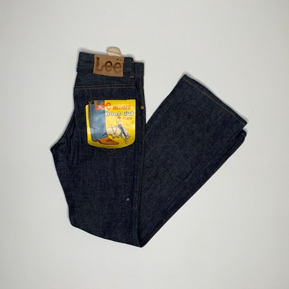 1970's Vintage Lee RIders Boot Cut Denim Jeans USA