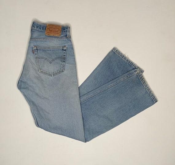 1980's Vintage Levis 501 Distressed Denim Jeans 3… - image 1