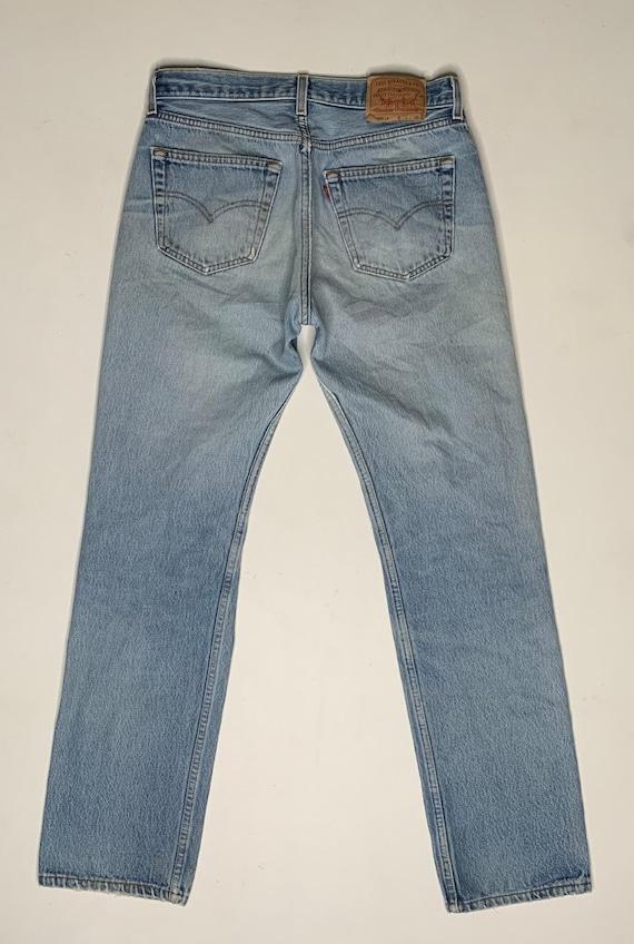 1980's Vintage Levis 501 Distressed Denim Jeans 3… - image 5