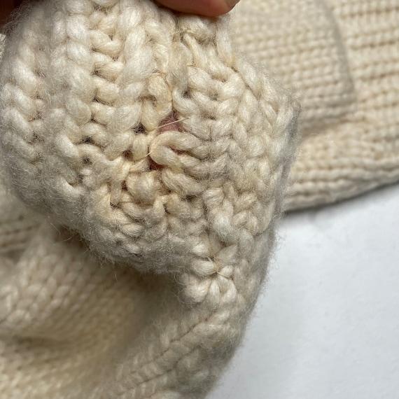 1960's Vintage Knit Shawl Collar Sweater Zipper F… - image 5
