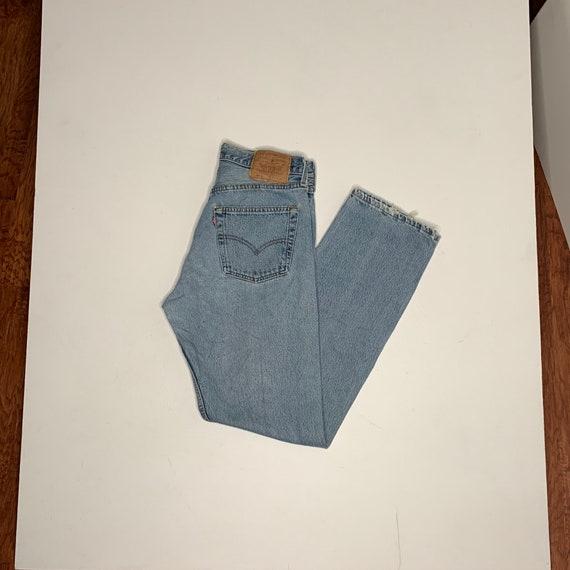 1990's Vintage Levis 501 Denim Jeans 28/30 E25