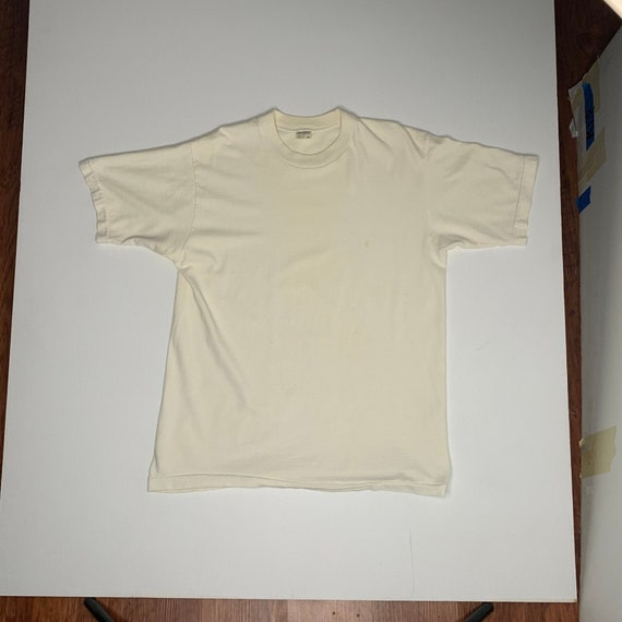 1970's Penneys Towncraft Blank White T Shirt Size