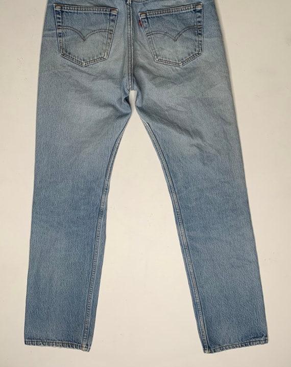 1980's Vintage Levis 501 Distressed Denim Jeans 3… - image 7