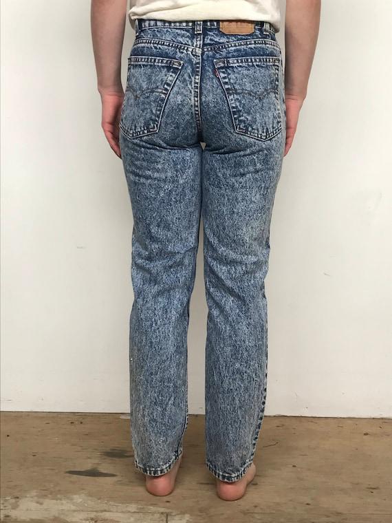 Vintage 80's Levis acid wash 505 jeans 27x26 - image 5