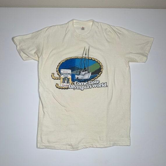 1970's Vintage Olympia beer promo t shirt Hi Cru S