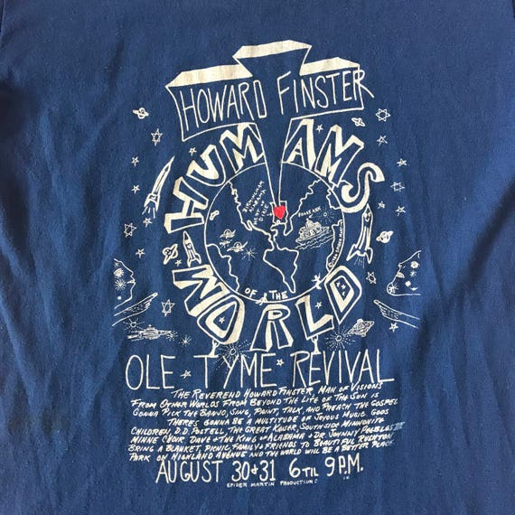 1986 Howard Finster Humans of the World T Shirt T… - image 2