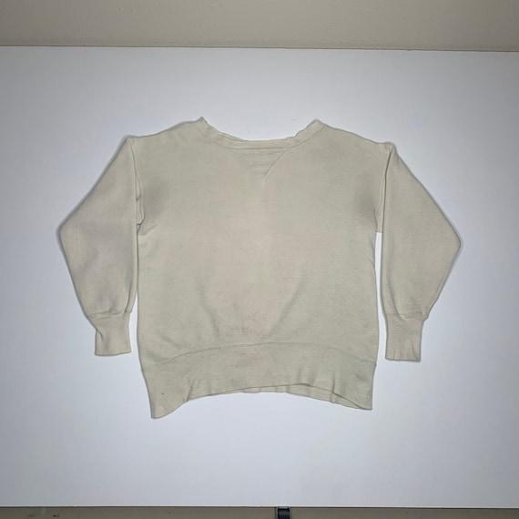 1950's Vintge Single V Sweatshirt Distressed Mediu