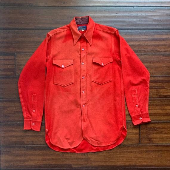 1940's Vintage Pendleton Work Shirt Distressed Sun