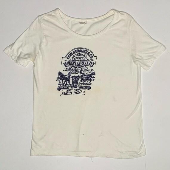 1960's Vintage Levis Logo Ink Print Promo Shirt La
