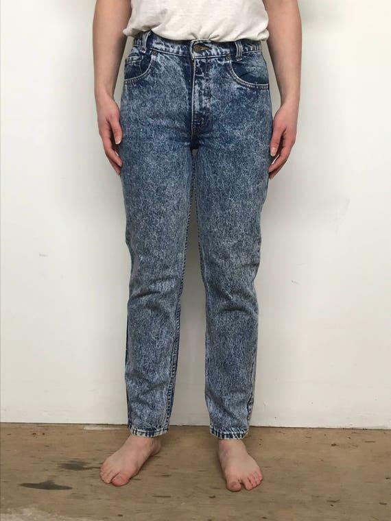 Vintage 80's Levis acid wash 505 jeans 27x26 - image 2