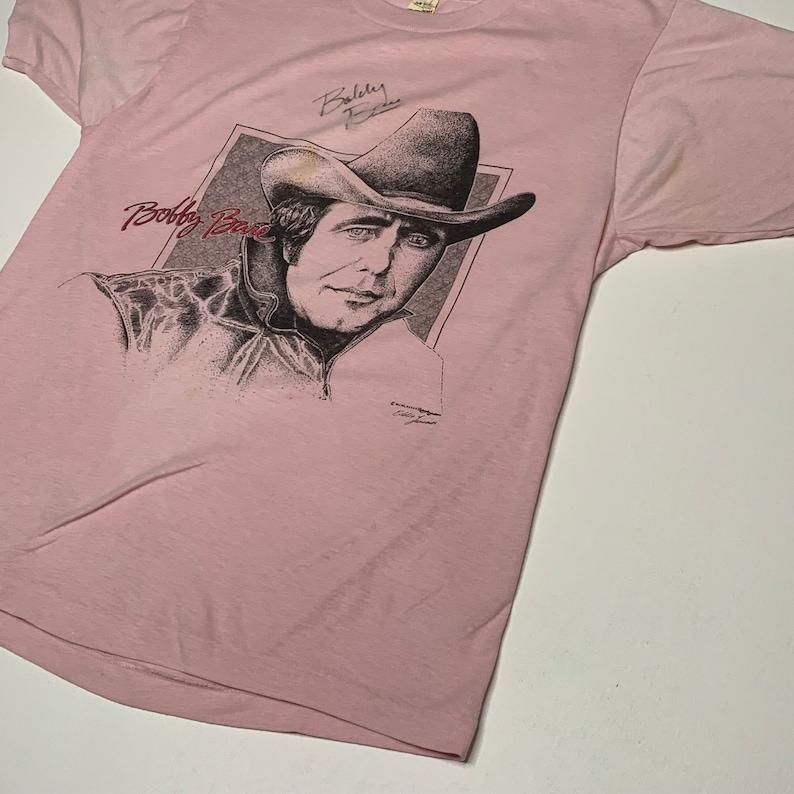 1980/'s Vintage Bobby Bare Promo Shirt Signed Autographed Screen Stars Medium