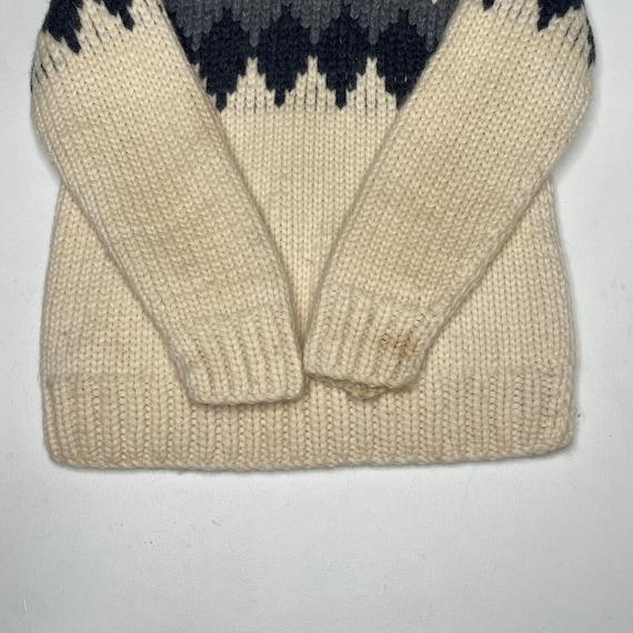 1960's Vintage Knit Shawl Collar Sweater Zipper F… - image 9