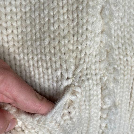 1960's Vintage Knit Shawl Collar Sweater Zipper F… - image 6