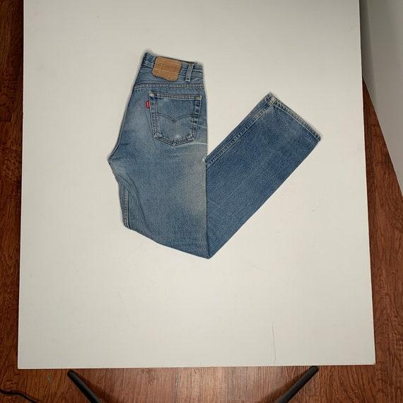 1980's Vintage Levis 501 Denim Jeans Distressed Pa