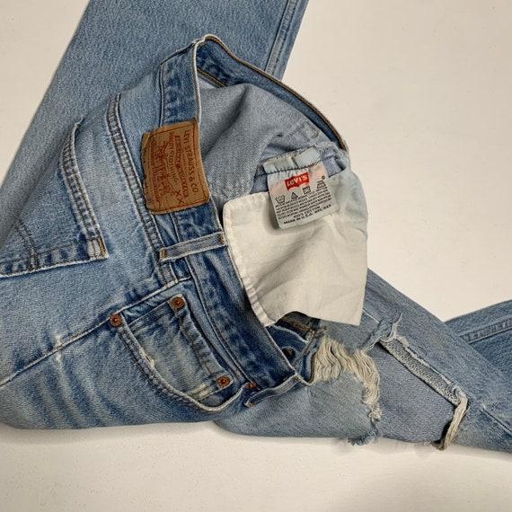 1980's Vintage Levis 501 Distressed Denim Jeans 3… - image 8