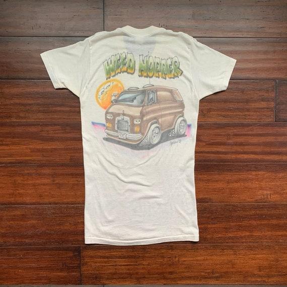 """1970's Vintage Airbrush Van  Culture t shirt """"WEED"""