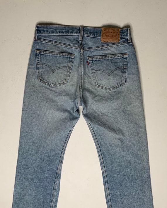 1980's Vintage Levis 501 Distressed Denim Jeans 3… - image 6